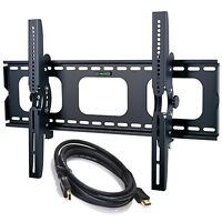 Tilting Tv Wall Mount Bracket For Samsung Screens 30 To 85 +hdmi Cable