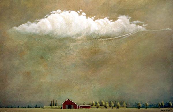 Steven Romm  Summer, South of 27 Keilrahmen-Bild Leinwand Wolken Farm Landschaft