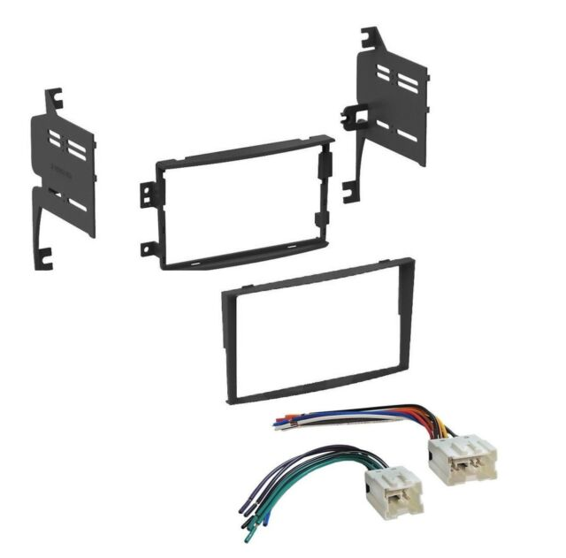 Car Single Double DIN Stereo Dash Kit Harness Combo for 2006-2008 Nissan 350Z