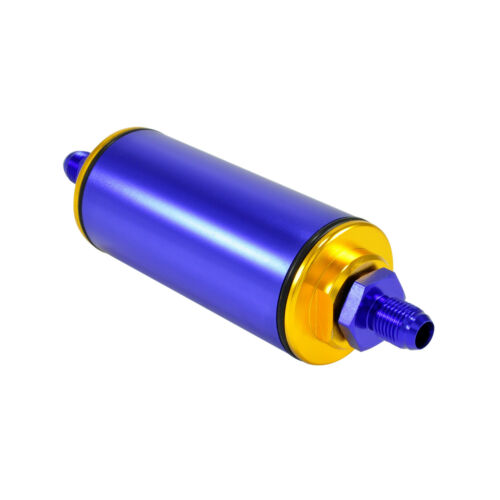 Kraftstofffilter AN6 Motorsport auswaschbar 50 mm Benzin Filter High Flow Blau