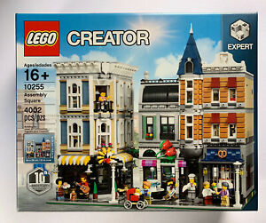 LEGO-Creator-Assembly-Square-10255-NEW-in-factory-SEALED-box-Rare-Set-City