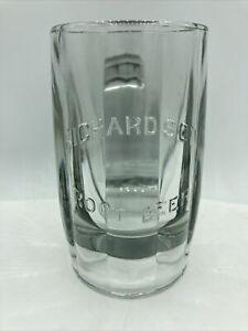 Vintage Embossed Richardson's Root Beer Heavy Glass Mug Rare