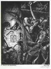 DON QUICHOTE - Werner LUFT 1940 - KAMPF mit den WEINSCHLÄUCHEN - Handsigniert