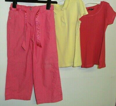 Le Ragazze Età 5-6 Anni Bundle Pantaloni E 2 X T-shirt Rosa Cotone Limone-mostra Il Titolo Originale Tecnologie Sofisticate