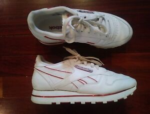 White Leather Tennis Shoes 6.5M