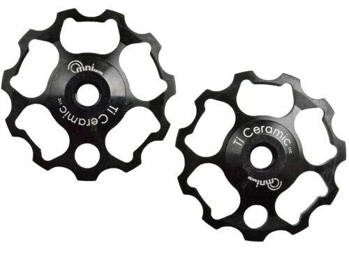 OMNI Racer WORLDS LIGHTEST Ti Ceramic Derailleur Pulleys Fit Record Chorus BLACK
