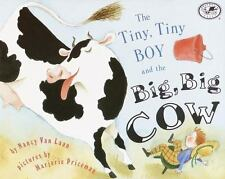 The Tiny, Tiny Boy and the Big, Big Cow (Umbrella Book)-ExLibrary
