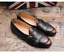 Details about  /Men/'s Round Toe Office Business Nightclub Buckle Shoes Retro Dress Formal Flats