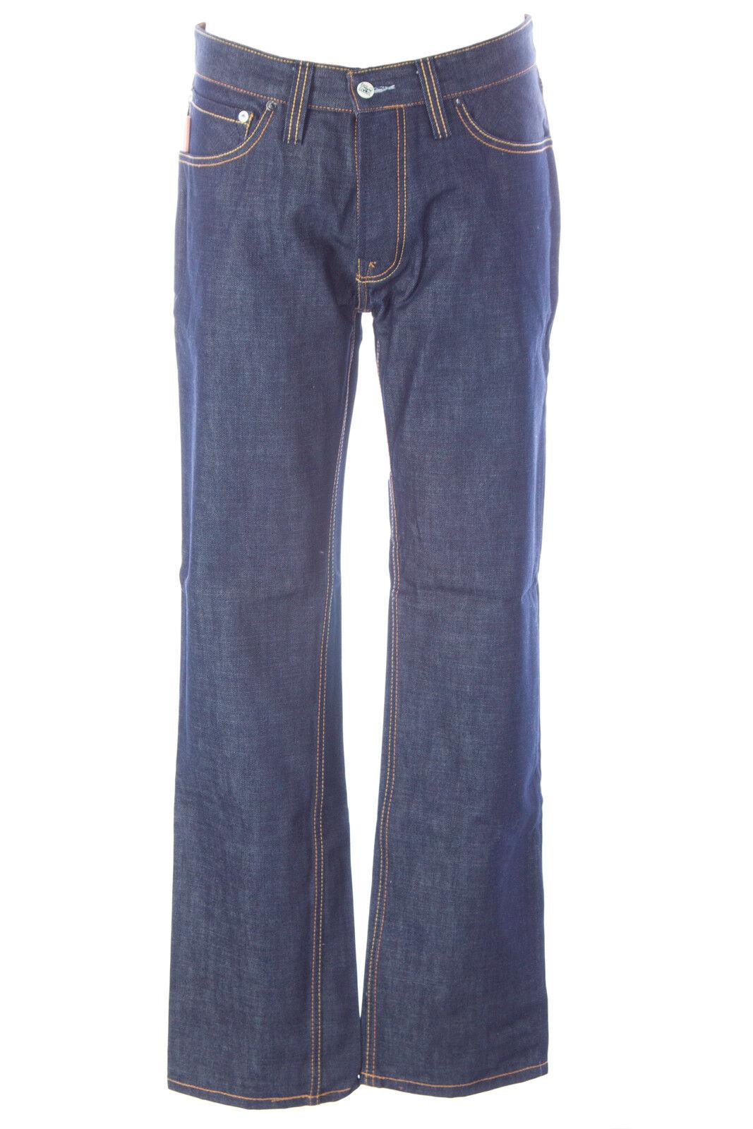 blueE BLOOD Men's Form Dry Cobalt Denim Button Fly Jeans MW07D02 NWT