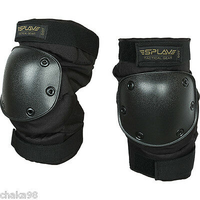 """Russian Army Spetsnaz Knee Pad Protection SPLAV """"DOT"""" Large Black Airsoft"""