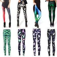 Sexy Fashion Lady Pattern Printed Pant Women Stretch Tight Leggings Skinny Pants