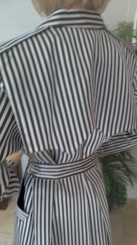 Blk Stripped Smuk 6 Wht Vintage Breasted S Jacket Ligesom Cache Satin Double wwnxqRr7ZI