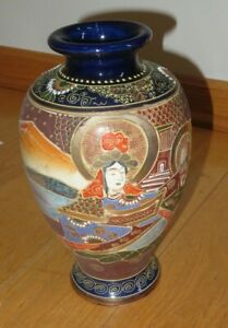 Antique Moriage Hand Painted Vase Made in Japan (T257)