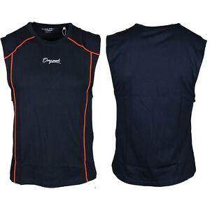 Jack-amp-Jones-Camiseta-Para-Hombres-oversize-de-cuello-redondo-sin-mangas-Casual-Chaleco-sin-mangas