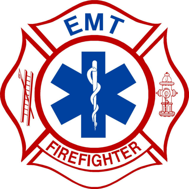 """Firefigher Decal Firefighter EMT 5"""" Exterior window Decal with FREE SHIPPING"""
