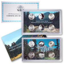 2005 Westward Journey Nickel Series COIN SET (6 coins) Unc & Proof