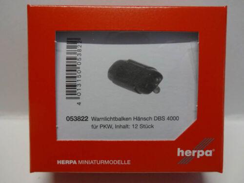 Herpa 053822 Warnlichtbalken Hänsch DBS 4000 blau für PKW 12 Stück 1:87 Neu