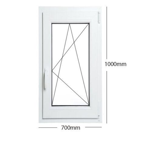 Finestre in PVC Aluplast con vetro OPACO per Bagno! ad 1 anta grosse misure!