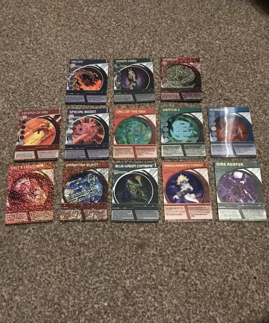 Bakugan Battle Brawlers Rare Foil Holographic Card Lot W  Doom Card