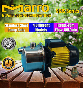 Marro Pressure Jet Water Pump Rain Tank Pond Pool Garden