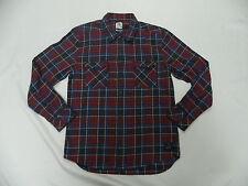 Quiksilver Sin Tank L/S Modern Fit Woven Flannel Shirt Sz Medium