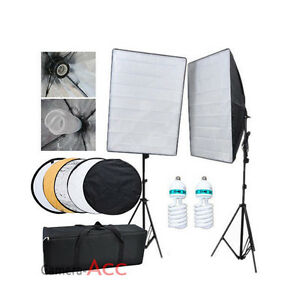 1250W Photo Studio Continuous Lighting Kit Light stand Softbox  80cm Reflector - Portsmouth, United Kingdom - Returns accepted - Portsmouth, United Kingdom