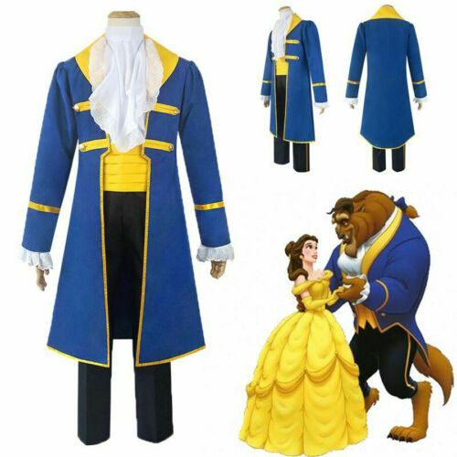 Beauty and the Beast Prince Adam Cosplay Costume Suit For Adult Halloween Party