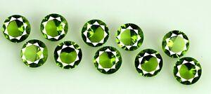 6-30-Ct-Olive-Green-Peridot-Gemstone-Lot-Natural-Round-10-Pcs-AGSL-Certified