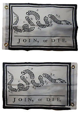 3x5 Unite or Die Gadsden Benjamin 2 Faced Double Sided 2-ply Polyester Flag