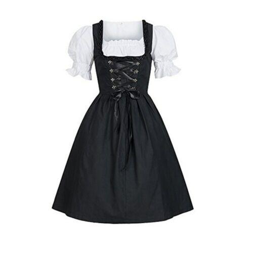 Women Girl German Dirndl Maid Dress Oktoberfest Beer Cosplay Costume Bavarian