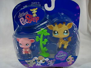 BNIB-LITTLEST-PET-SHOP-MOUSE-AND-GIRAFFE-WITH-TREE-632-amp-633