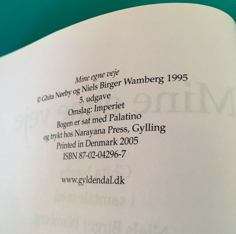 Ghita Nørby: Mine egne veje, Niels Birger Wamberg, genre: