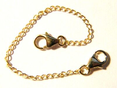 9ct Yellow Gold Safety Extension Chain 8cm with Baroque Trigger Clasps Extender