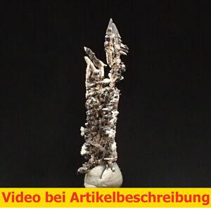 8112 Silber Akanthit ca 2,2*0,7*0,3 cm Batopilas Mexico MOVIE