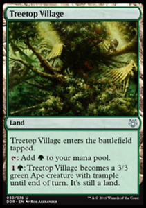 Rare Dual Deck Magic the Gathering MTG 2x TREETOP VILLAGE NM
