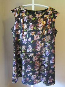 Details about Dress Barn Luxology Size 24 Womens Plus Size Fit & Flare  Floral Dress