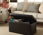 ottoman storage bench stool leather faux seat box chest home decor large bedroom