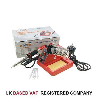 312095 KATSU 58W Soldering Station Iron Electronic W/ Extra Tips UK