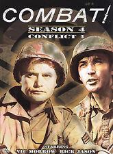 Combat Season 4 Conflict 1 2005 4-DVD Set WWII war series Vic Morrow  Rick Jason