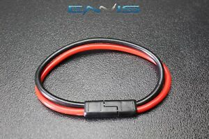 1) 8 GAUGE QUICK DISCONNECT 2 PIN 10'' LEADS POLARIZED WIRE HARNESS
