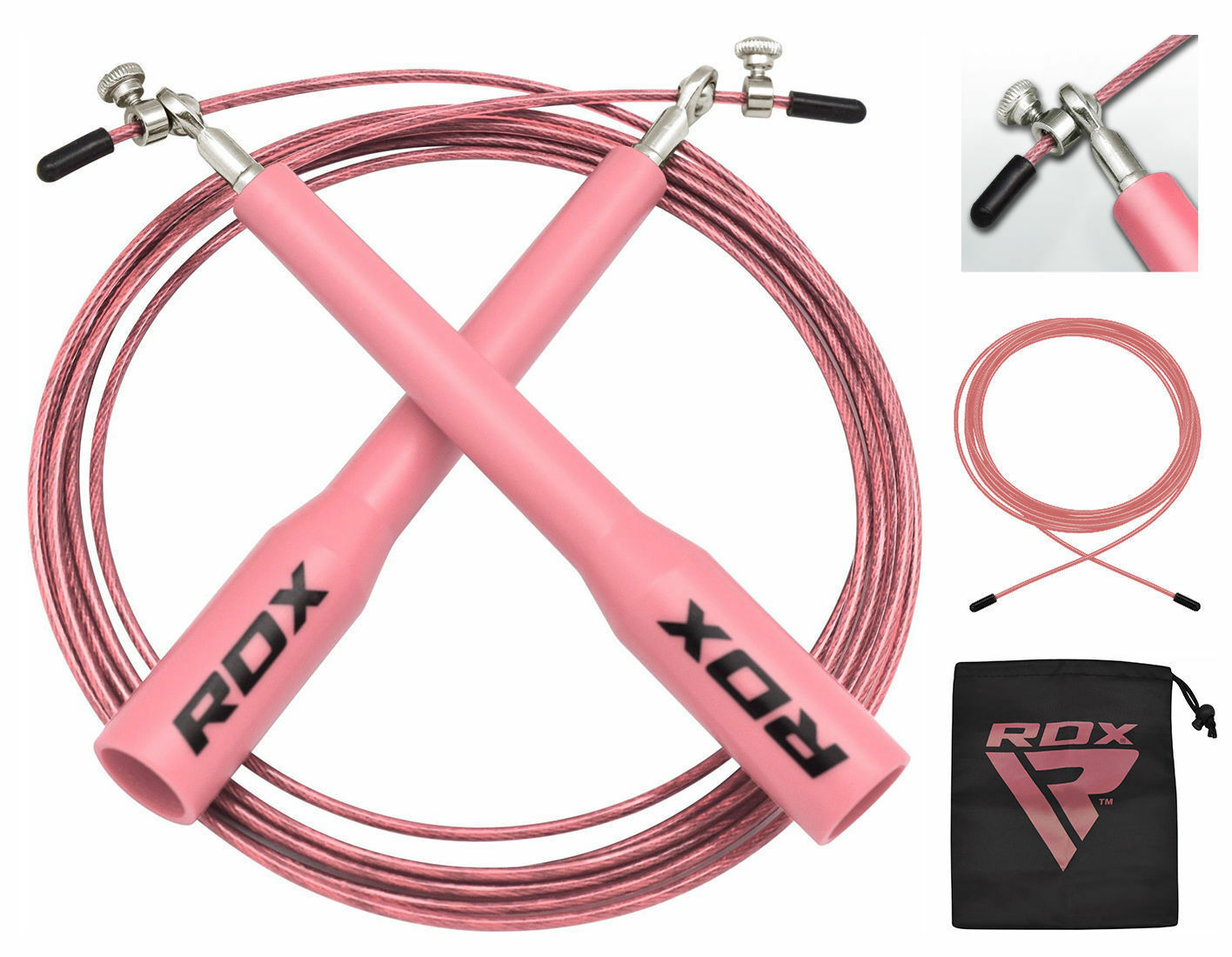 RDX Springseil Speed Rope Boxen Profi Fitness Hüpfseil Seilspringen DE    New Listing