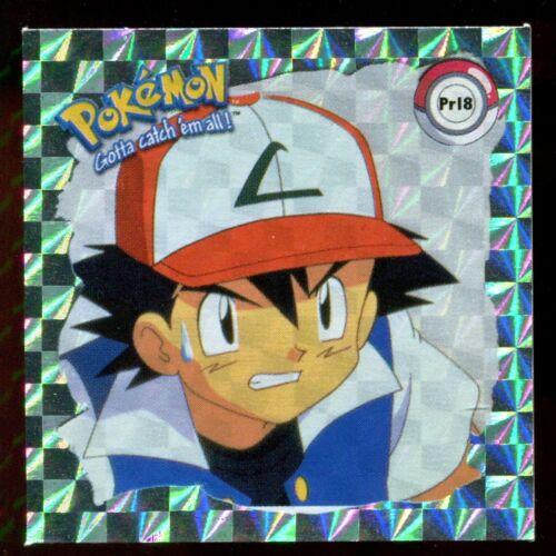 POKEMON STICKER ENGLISH CARD 50X50 1998 HOLO N° PR18 ASH