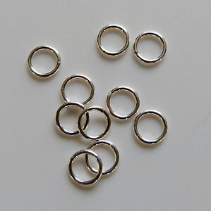 100 SP steel round jump rings 6.5mm o//d X 4mm int//dia X 1.2mm wire findings