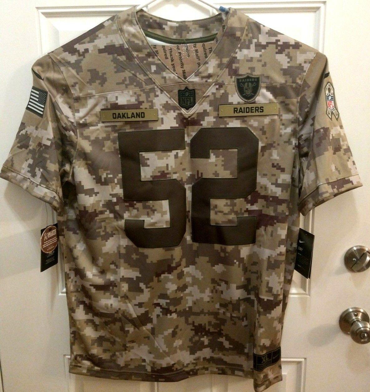 Nike Salute to Service Chicago Bears 52 Khalil Mack Jersey Ah4950 338 Size 2xl
