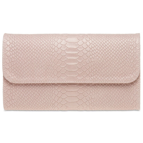 CASPAR TL722 Damen echt Leder Briefumschlag Clutch Tasche Abendtasche Kroko