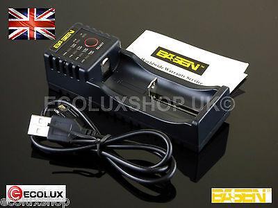 BASEN LED 1A Battery Charger 18650 18500 18350 20700 14500 Li-Ion Li-Mn 3.7v USB