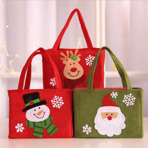 Fj-Cn-Natale-Portatile-Borsette-Babbo-Pupazzo-Regalo-Caramelle-Borsa-Da