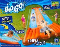 Inflatable Water Slide Triple Pool Kids Park Backyard Play Fun Outdoor Splash Us