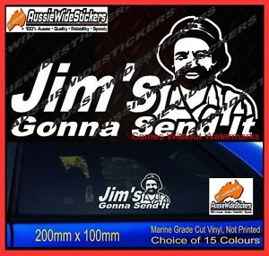 Jim-039-s-Gonna-Send-It-Just-JDM-hoon-skid-CAR-YTB-Windscreen-Stickers-Decal-200mm
