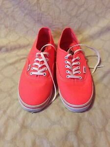 Vans Off The Wall Shoe s Neon Orange Pink Punch Mens 6.5 womens 8 M ... a491107a5
